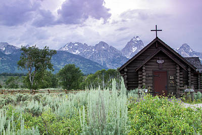 Photograph - Grand Teton Church by Dawn Romine