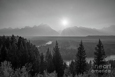 Reptiles Royalty-Free and Rights-Managed Images - Grand Teton Sunset at Snake River  by Michael Ver Sprill