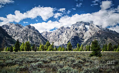 Photograph - Grand Tetons  by Bruce Block