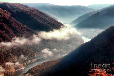 Grandview New River Gorge Art Print by Thomas R Fletcher