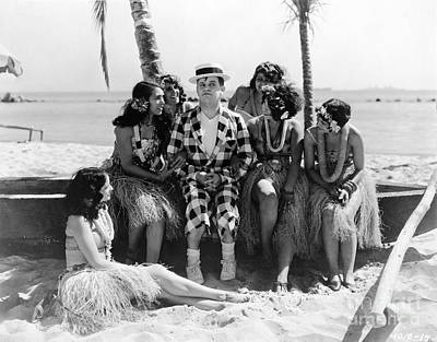 Photograph - Grass Skirts, 1929 by Granger
