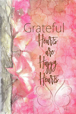Digital Art - Grateful Hearts by Ramona Murdock