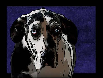 Great Dane Digital Art - Great Dane by Alexey Bazhan