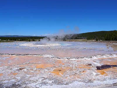 Great Fountain Geyser In Yellowstone National Park Art Print by Louise Heusinkveld