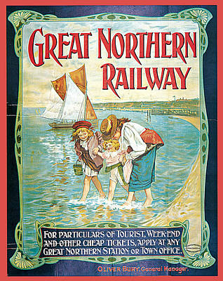 Painting - Great Northern Railway by John Hayes