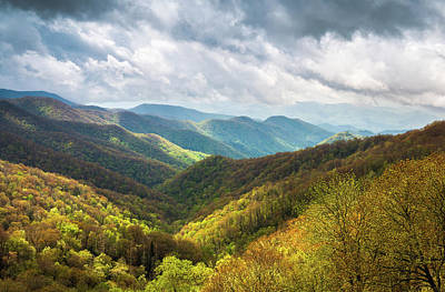 Great Smoky Mountains North Carolina Spring Scenic Landscape Art Print