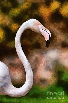 Painting - Greater Flamingo by George Atsametakis