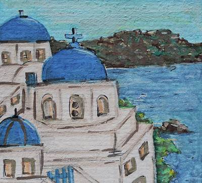 Watercolor Painting - Greece by Art By Naturallic