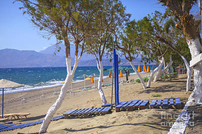 Photograph - Greek Beach by Patricia Hofmeester