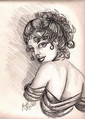 Greek Goddess Art Print by Scarlett Royal