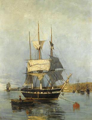 Painting - Greek Ship by Konstantinos Volanakis