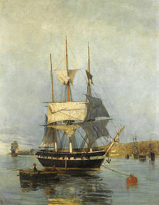 Greek Art Painting - Greek Ship by Konstantinos Volanakis