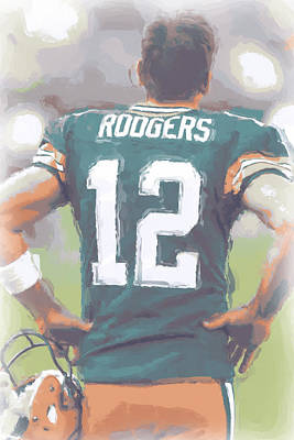 Green Bay Packers Aaron Rodgers Art Print