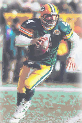 Green Bay Packers Brett Favre Art Print