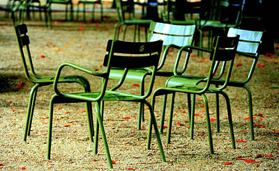 Photograph - Green Chairs by David Gilbert