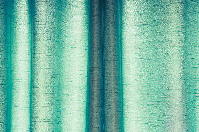 Green Curtain Art Print by Tom Gowanlock