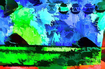 Digital Art - Green Fields by Rick Bragan