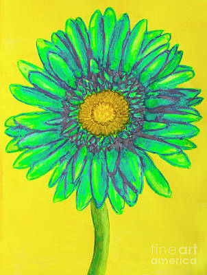 Painting - Green Gerbera by Irina Afonskaya
