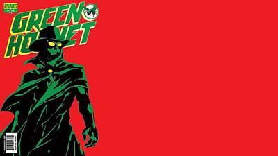 Green Digital Art - Green Hornet by Super Lovely