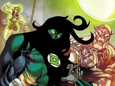Green Digital Art - Green Lantern Corps by Maye Loeser