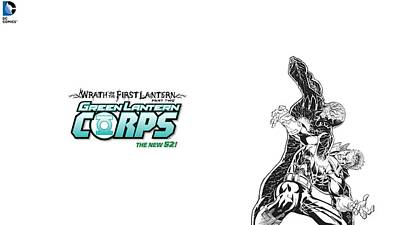 Green Digital Art - Green Lantern Corps by Super Lovely
