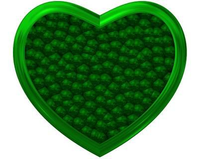 Relief Digital Art - Green Love by Alberto RuiZ