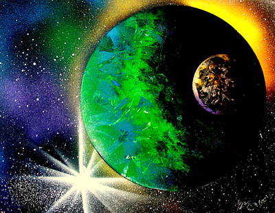 Painting - Green Planet 4672 by Greg Moores