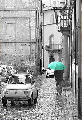Photograph - Green Umbrella by Valentino Visentini