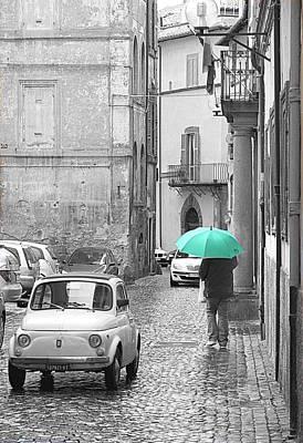 Photograph - Green Umbrella by Valentino Visentini