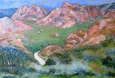 Karoo Painting - Green Valley Of The Klein Karoo by Elizabeth Kendall