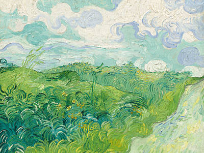 Wheat Field Painting - Green Wheat Fields   Auvers by Vincent Van Gogh