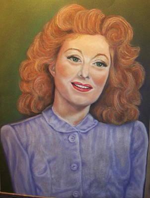 Greer Garson Art Print by Deborah Steinmetz
