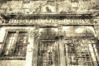 Photograph - Greyfriars Bobby Pub Edinburgh Vintage by David Pyatt