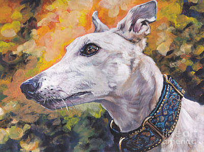 Painting - Greyhound Portrait by Lee Ann Shepard