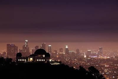 Arial View Photograph - Griffith Observatory  by Chenglung Chen
