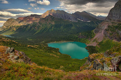 Photograph - Grinnell Lake In The Northern Mt. Rockies by Adam Jewell