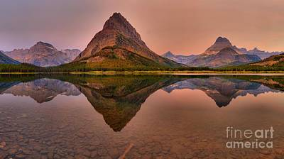 Photograph - Grinnell Point Glacier Sunrise by Adam Jewell
