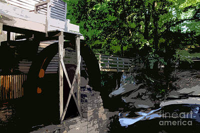Grist Mill Painting - Grist Mill by David Lee Thompson