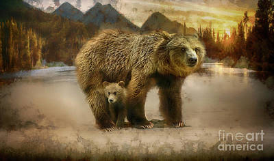 Grizzly Bear Art Art Print by Wildlife Fine Art