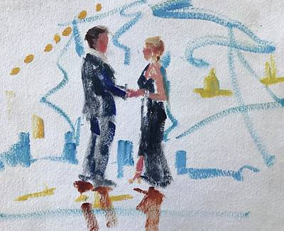 Painting - Groom And Mother by Carol Berning