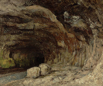 Courbet Painting - Grotto Of Sarrazine Near Nans-sous-sainte-anne by Gustave Courbet