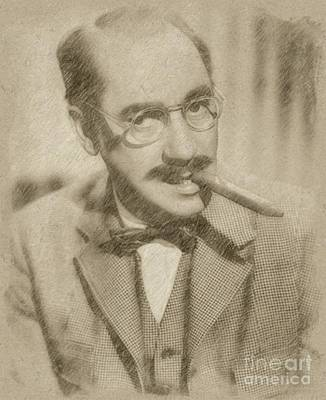 Fantasy Drawings - Groucho Marx by Frank Falcon
