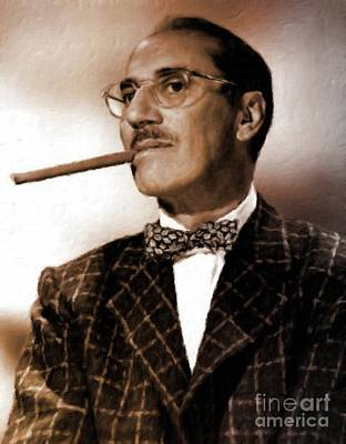 Groucho Marx Painting - Groucho Marx by Mary Bassett