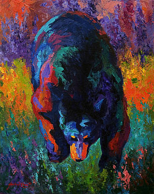 Grounded - Black Bear Art Print by Marion Rose