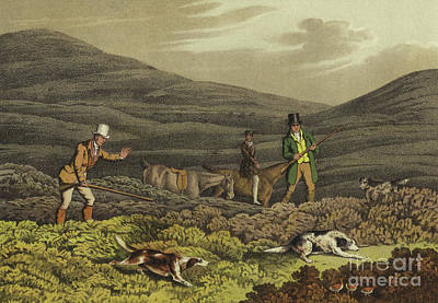 Horses Drawing - Grouse Shooting by Henry Thomas Alken