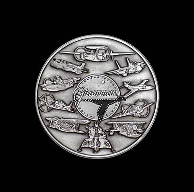 Digital Art - Grumman Coin by The Grumman Store