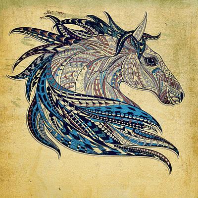 Painting - Grunge Ethnic Horse by Aloke Creative Store