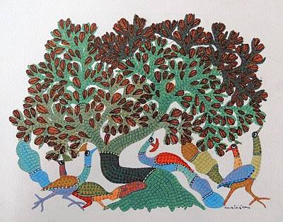 Gond Art Painting - Gst 100 by Gareeba Singh Tekam