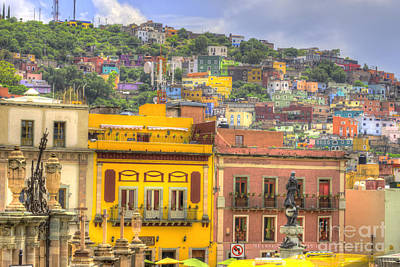Historic Buildings Images Photograph - Guanajuato Mexico  by Juli Scalzi
