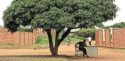 Photograph - Guard, Kigali 2009 by Chris Honeyman